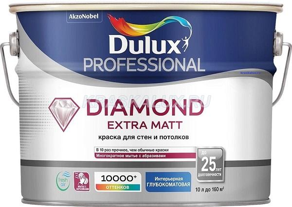 Dulux Professional Diamond Extra Matt / Даймонд Эктра Матт Экстраматовая краска